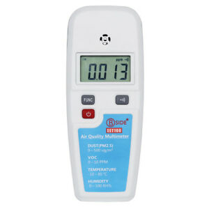 Air Quality Monitoring Tester Multimete Lcd Voc Formaldehyde Detector Pm2 5