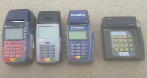 Credit Card Machine Terminal lot Of 4 Verifone Omni 5100 fd55 vx5700 counter 400