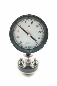 Ashcroft Pressure Gauge W Diaphragm Seal 30 0in hg 0 30psi