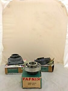 Fafnir Ball Bearings Flange mount Cast Iron Housing Lot Of 3 New In Box