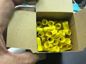 Scotchlok 3m Yellow Electrical Spring Connectors Wirenuts Insulated Nib