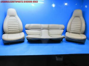 Porsche 944 924s Front Rear Seats Previously Reupholstered Tan Seat Set Oem