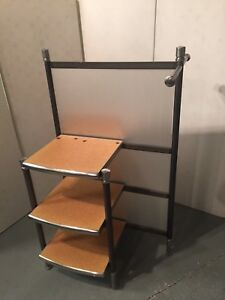 Metal Wood Laminate Display Shelf Clothing Bar Rack Retail Store Fixture