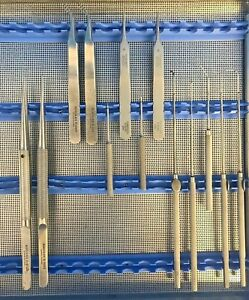 Set Of 13 Ruggles aesculap Micro Dissection Instruments W Case 30 Day Warranty