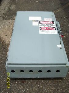 Square D H366n 600 Amp Fusible Safety Disconnect Switch 600amp 600volt 3pole