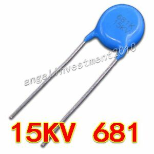 New High Voltage Ceramic Capacitor 15kv681 15000v 0 68nf 680pf