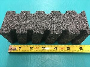 Silicon Carbide Fluted Rubstone Mohr241 6 x2 x2 Box Of Six No Handle