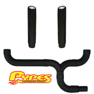 Pypes Ford 6 0 Powerstroke Super Duty Diesel 6 Black Dual Stacks Exhaust Kit