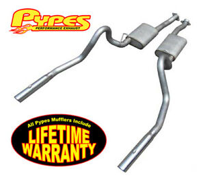 1986 1993 Pypes Mustang Lx 5 0 Cat Back Exhaust System W Violator Tips