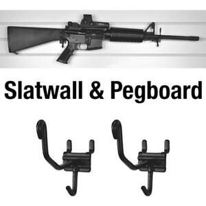 Horizontal Slatwall And Pegboard Gun Cradles 10 Pack