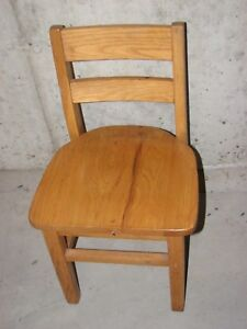 Pair Vintage Solid Oak Child S Primary School Classroom Library Chairs 14 Seat