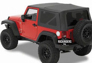 2007 2009 Jeep Wrangler 2 door Replacement Soft Top Tinted Windows 9070235