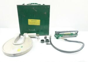 Greenlee 1731h767 One shot Hydraulic Knockout Driver Set