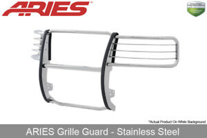 Aries Polished Stainless Steel Grille Brush Guard 2007 2013 Chevy Silverado 1500