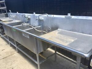 13ft Stainless Steel 3 Compartment Sink table