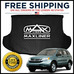 Maxtray 2007 2011 Honda Cr v All weather Cargo Liner Mat Behind 2nd Row Black