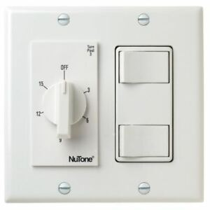 Nutone Vs69wh 15 Minute Bath Fan Timer Switch With Two On off Switches