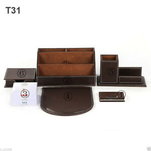 Desktop Organizer Set Pen Holder With Business Card Holder Memo Box Paper Notes