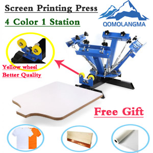 Usa 4 Color 1 Station Silk Screen Printing Press Machine Screen Pressing Diy