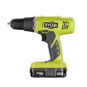Ryobi 18 Volt One Lithium Ion Cordless Drill driver Kit certified Refurbished
