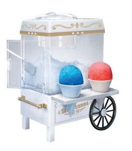 Snow Cone Maker Vintage Old Fashion Shaved Ice Machine Retro Nostalgia Carnival