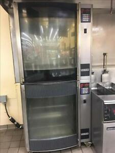 Hobart Hr7e Electric Double Stack Commercial Chicken Rotisserie Oven Rotary 1
