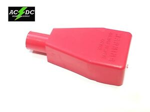 Top Post Battery Terminal Flexible Pvc Boot Cover 1 Red Pos Fits 1 Gauge Usa