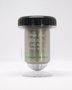 Nikon Plan Apo 20x 0 75 Dic N2 0 17 Wd 1 0 Objective In Mint Condition