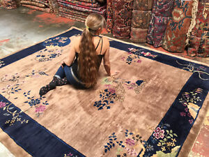 Vintage Art Deco Chinese Rug 8x10 Excellent Condition