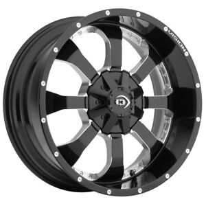 4 17 Inch Vision 420 Locker 17x9 5x139 7 5x5 5 12mm Black Milled Wheels Rims