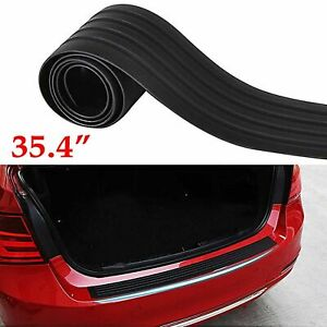 Trunk Door Sill Plate Trim Rear Bumper Guard Protect Pad Soft Rubber Cover Black