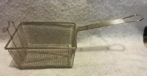 Commercial Deep Fryer Basket W Front Hook Food Fish French Fries Free Shipping