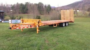 Butler 32 Heavy Equipment 10 Ton Trailer Electric Brakes Pintle Hitch