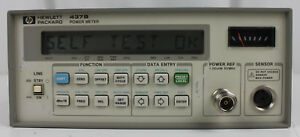 Hp 437b Rf Power Meter High Preformance Single Cannel 110ghz Power Tested