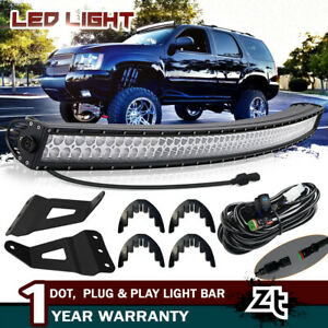 2007 13 Chevy Avalanche Tahoe Suburban 50 Curved Led Light Bar mount Brackets