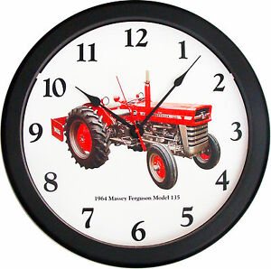 New 1964 Massey Ferguson Model 135 Tractor Wall Clock 14 Restored Vintage Air