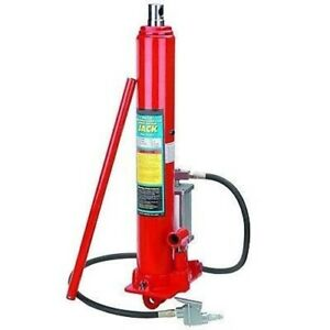 8 Ton Air Power Powered Over Hydraulic Long Ram Jack Lift For Hoist Crane