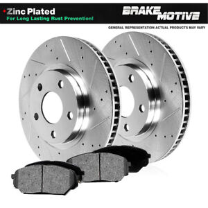 Front Drill And Slot Brake Rotors Metallic Pads For Chevy Equinox Torrent Vue