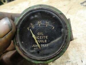 John Deere Trilingual Oil Pressure Gauge Original Condition 70 720 730 80 820