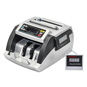 Hfs Bill Money Counter World Currency Cash Counting Machine Uv Mg Counterfeit