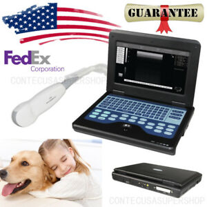 Usa Veterinary Laptop B ultrasound Scanner Small Animals Micro convex Probe bag