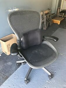 Herman Miller Classic Aeron Chair Size C Large Fully Adjustable Graphite Local
