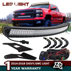54 Curved Led Light Bar Upper Roof Bracket 14 18 Chevy Silverado Tahoe Suburban