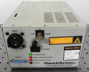 G151919 Melles Griot Omnichrome Ion Laser Power Supply W 1 Key