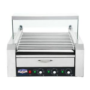 Great Northern 11 Roller Grilling Machine Bun Warmer Cover 30 Hot Dogs