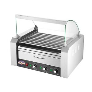 9 Roller Grilling Machine Bun Warmer Cover 24 Hot Dogs Concession Griller