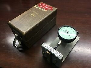 Federal Precision Thickness Gage Dial Indicator C81 001 With Fixture