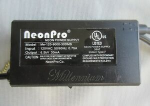 Neonpro Me 120 9000 30dms Indoor Neon Power Supply Transformer 6 5kv 30ma 1