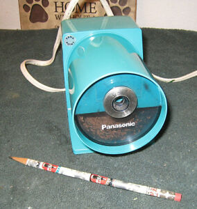 Panasonic Pana Point Electric Mid Century Aqua Blue Kp 22a Pencil Sharpener