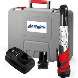 Acdelco Cordless 12v Heavy Duty Ratchet Wrench Tool Set W Batteriescharger Kit